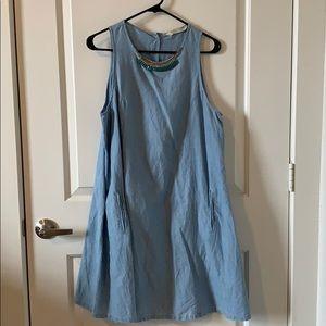 Zara Blue Denim Dress